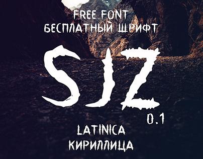 Free Font Sjz / basic Latin and Cyrillic support