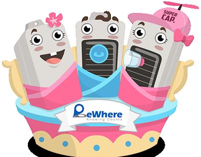 BeWhere Triplets illustration