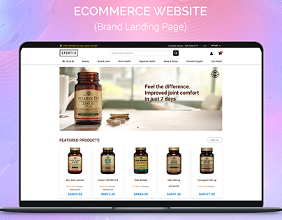 Ecommerce Brand Page