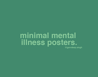 Minimal mental illness posters