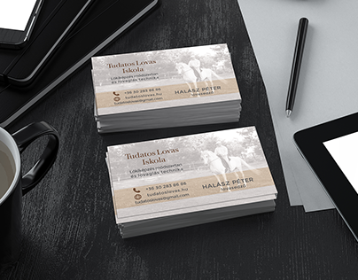 🐎Conscious Rider Scool's businesscard and one page ad