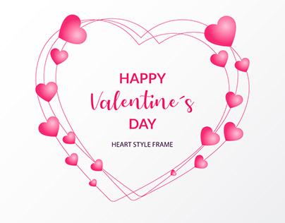 Happy valentine's heart style invitation card