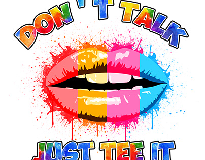 Watercolor Lips design For Tshirt