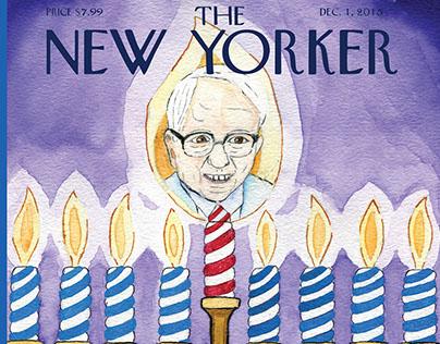 Mock New Yorker - Bernie Sanders - Hanukkah 2015