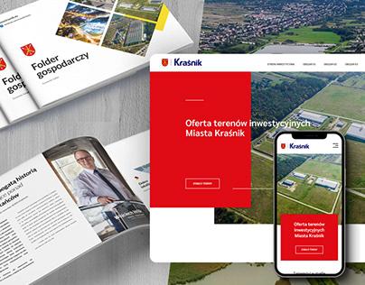 Invest in Kraśnik / Landing Page & Brochures