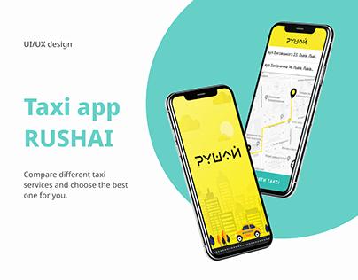 RUSHAI - taxi app