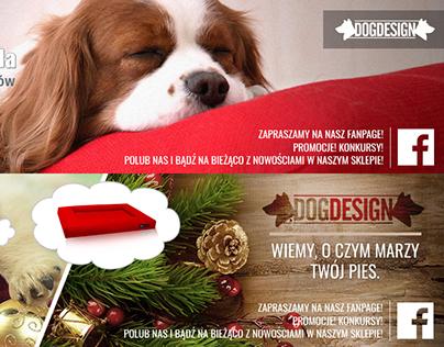 Projekt bannerów reklamowych dla DOG-DESIGN.PL