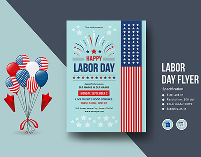 Us Labor Day Flyer Template