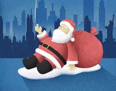 2018 Sad Santa Illustrations