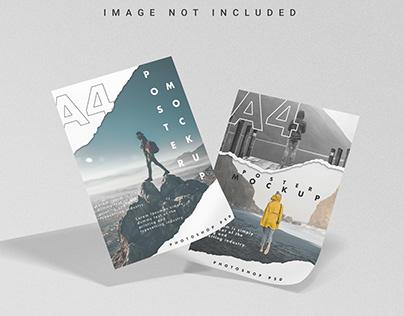 Free A4 Poster Mockup