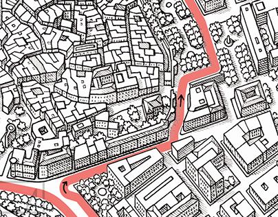 Baku Grand Prix street circuit drawing