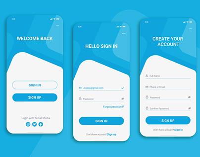Sign in/Sign up UI Design- Mobile App Design