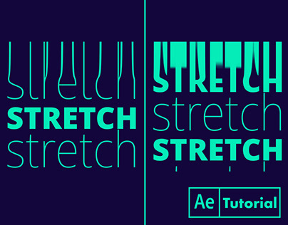 Kinetic Typography Stretch, Warp, Glitch, Distort Text