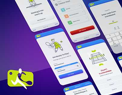 UI design for tennis court system application