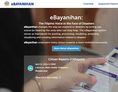eBayanihan landing page