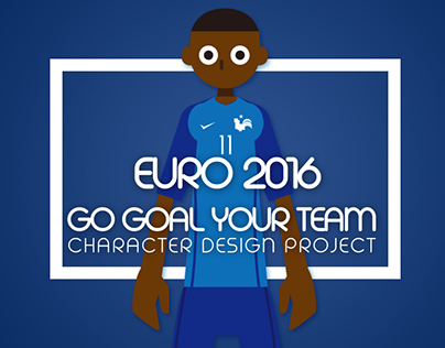 UEFA Euro 2016 Go Goal Your Team Character Poster