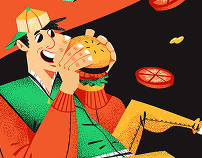 Burger Van - Food Truck Illustration