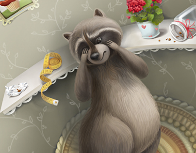 My illustration for Lion and Racoon