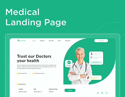 Landing Page: Clinic