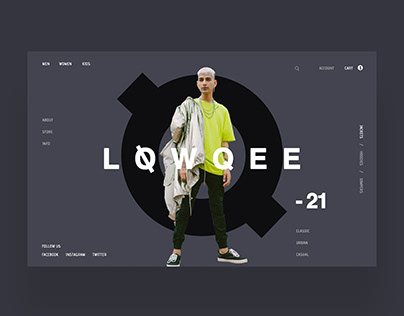LoeQee Ecommerce Web Design Concept