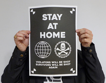 """""""STAY AT HOME"""" riso prints"""