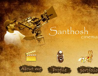 Santosh Cinematographer - Portfolio Website