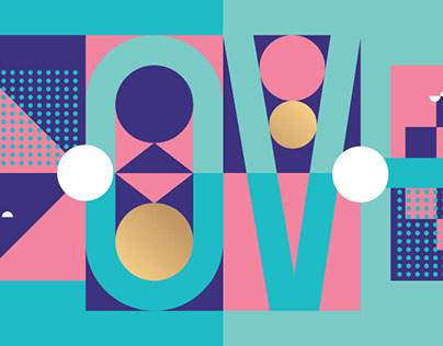 Typography & Shapes. / Posters
