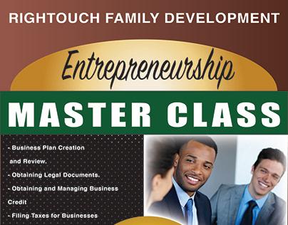 Rightouch Entrepreneurship Advertisement.