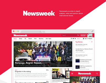 Newsweek Web design