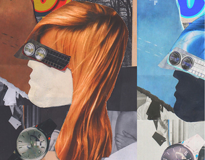 Cold Face // Analog Collage Details