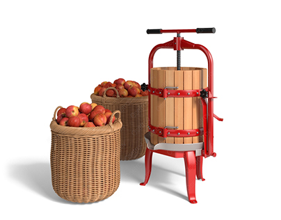 Presses and crushers for apples