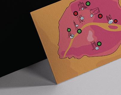Interactive postcard