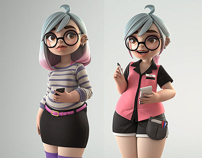 3D Model Cartoon Character Design