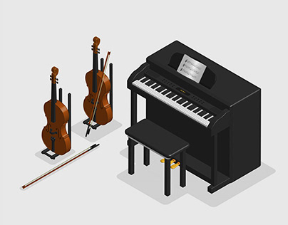 3D Isometric Musical Instrument