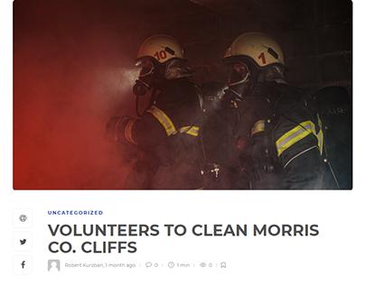 VOLUNTEERS TO CLEAN MORRIS CO. CLIFFS