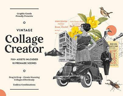 Vintage Collage Creator (750+ Assets)