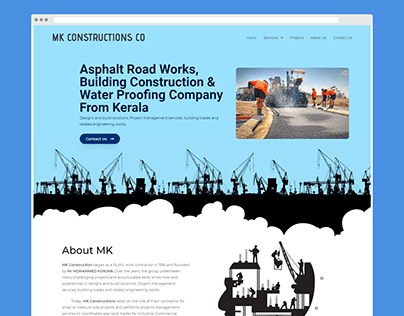Simple Website For Construction Company