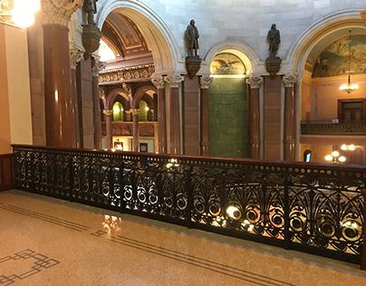 Illinois State Capitol - Antique Iron Railings