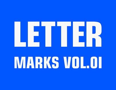 Letter Marks Vol.01