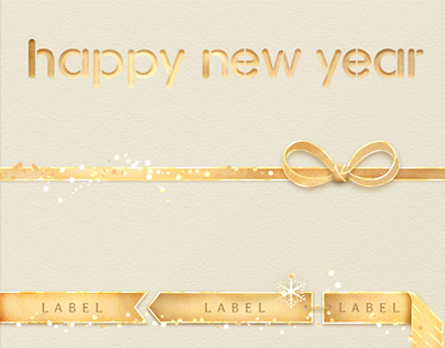 Happy New Year Graphic Elements Concept