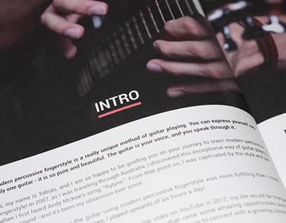 Guitar teach book (book cover and interior design)