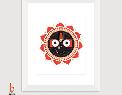 Instant Download Jagannath Wall Art