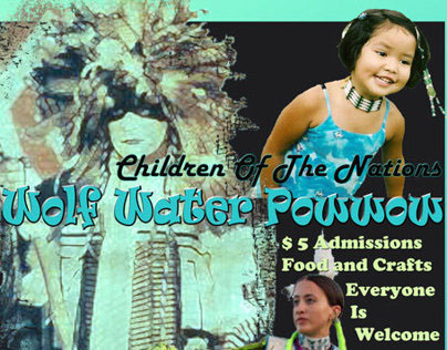Children of the Nations: Wolf Water Powwow Poster