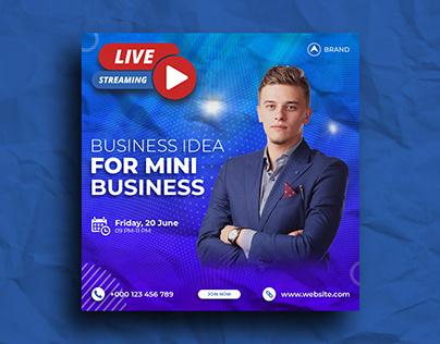 Live Streaming Workshop Social Media Post