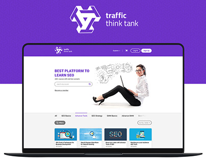 SEO Courses Website Design - Traffic Think Tank