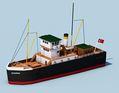 "Isometric ship ""Bandırma"" for 19 Mayıs"