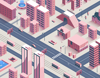 Constructor for creating isometric urban illustrations