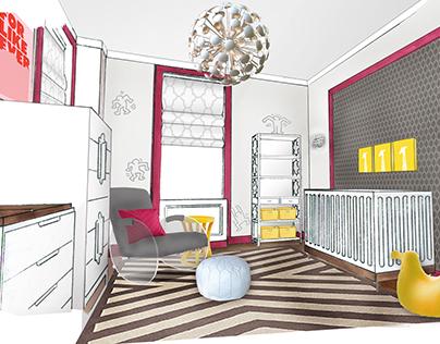 NYC//Baby Girl Nursery