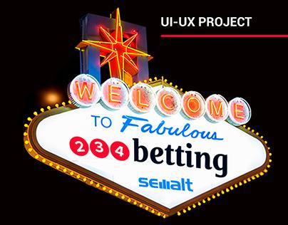 """Redesign Gambling Platform """"234betting"""""""