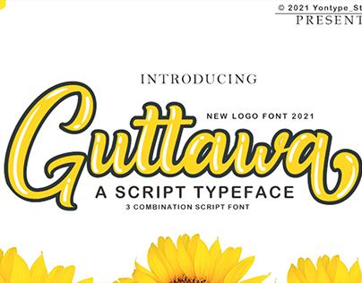 Guttawa | A Logo Typeface Font